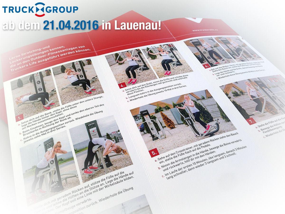 Outdoor-Fitnessanlage fuer LKW Fahrer Lauenau
