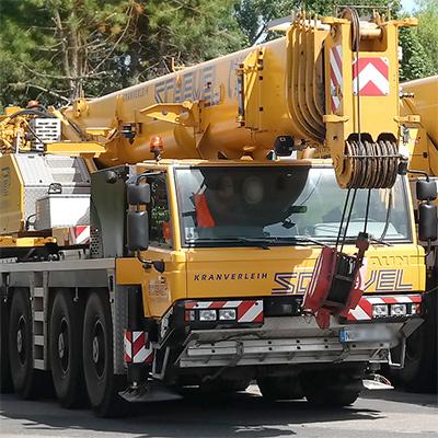 Faun Autokram zu vermieten in Schuettorf NRW bentheim Lingen Nordhorn Gronau Enschede