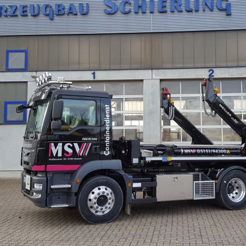 Meiller Absetzkipper AUfbau Fahrzeugbau Hameln Schierling