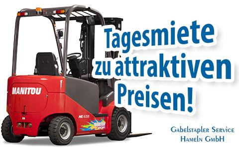 Gabelstapler zu günstigen Tagesmietpreisen mieten in Hameln