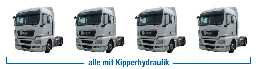 Zugmaschinen Vermietung mit Kipperhydraulik-Lauenau-Hannover