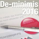 de-minimis Förderung 2016